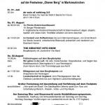 Bergfest Programm 2015
