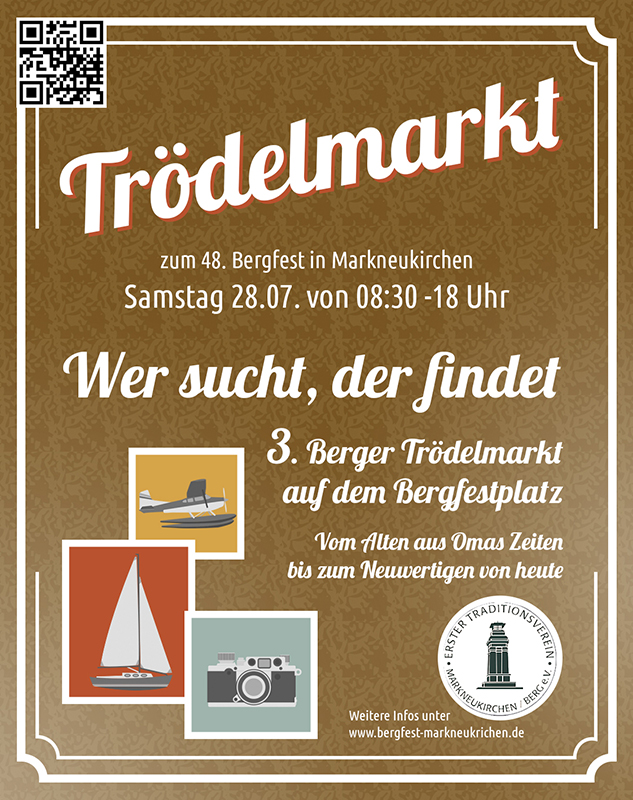 Zum 48. Bergfest Trödelmarkt auf dem Festplatz des Ersten Traditionsverein Berg e.V.