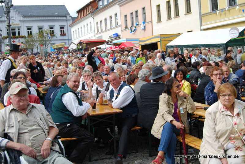 Der vogtländische Nachmittag auf dem Marktplatz war ein weiterer Höhepunkt des Nachmittags.