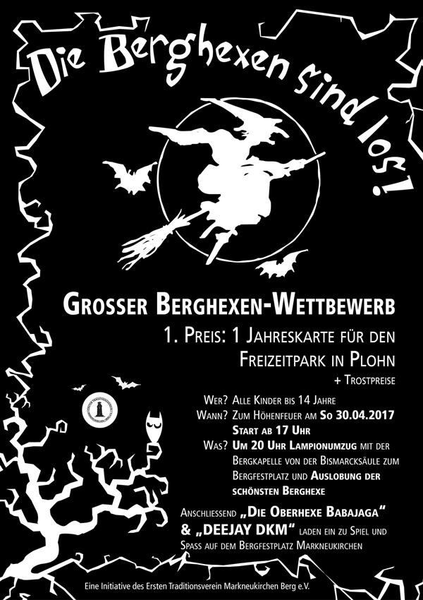 Höhenfeuer 2017 mit Berghexenwettbewerb auf dem Bergfestplatz 2017