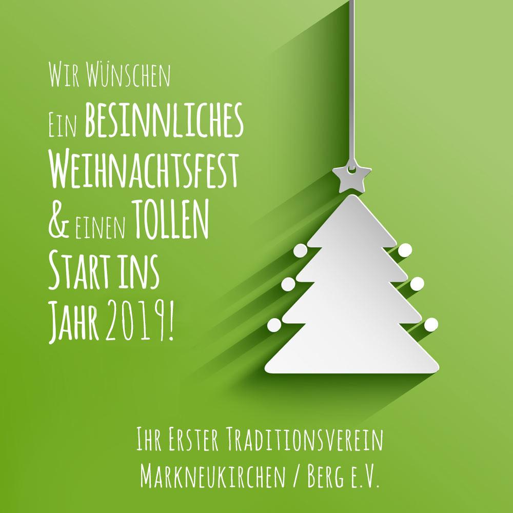 Ein besinnliches Weihnachtsfest Wünscht der Erste Traditionsverein Markneukirchen Berg e.V.