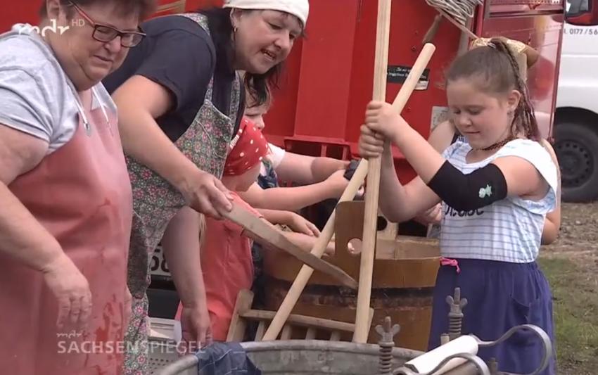mdr Sachsenspiegel vor Ort zum 49. Bergfest - Sonntag ist Waschtag